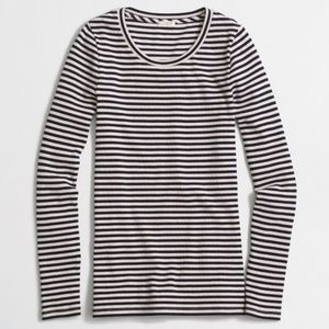 J. Crew Striped Ribbed Long Sleeve